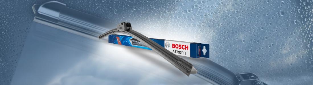 Conheça os detalhes sobre a linha de palhetas limpadoras do para-brisa da Bosch.